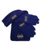 Michigan Wolverines 3 Pc Scarf, Gloves & Hat Men's (Blue) XL