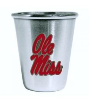 Mississippi Rebels Steel Shot Glass