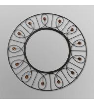Elements Round Decorative Mirror - Jeweled